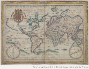 Carte universelle hydrographique / Faite par Jean Guerard, l'an 1634 - http://gallica.bnf.fr/ark:/12148/btv1b55007081v