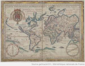 Carte universelle hydrographique / Faitte par Jean Guerard, l'an 1634 - http://gallica.bnf.fr/ark:/12148/btv1b55007081v